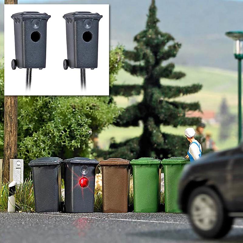 BUSCH 5633 <br/>Mülltonnenblitzer, 2 Stück