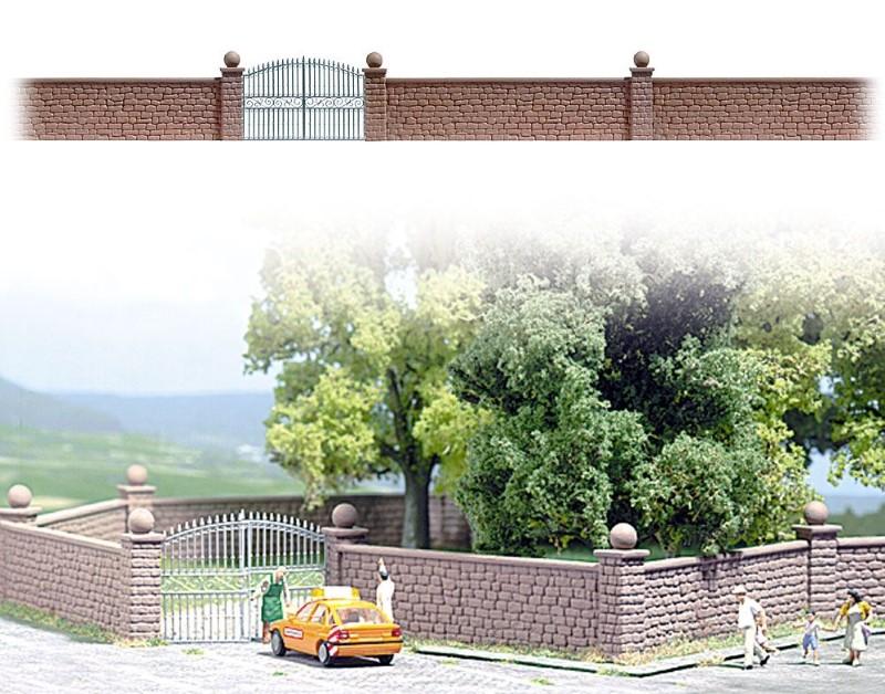 BUSCH 6014 <br/>Steinmauer mit Tor