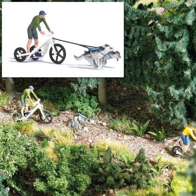 BUSCH 7815 <br/>Action Set: Zugwagen mit Huskies