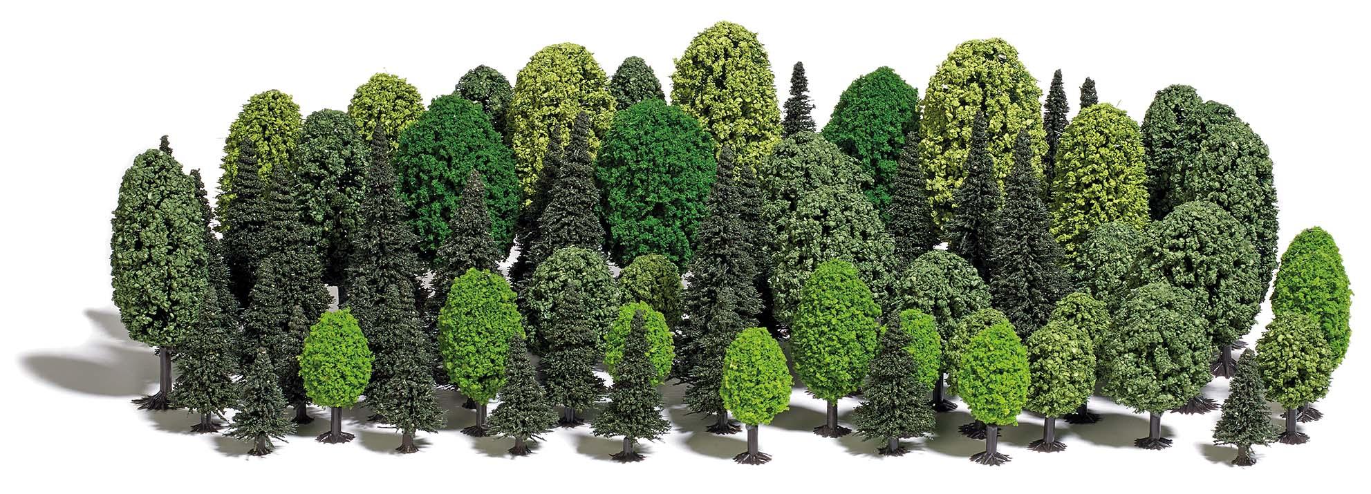 BUSCH 9764 <br/>Baumset mit 70 Bäumen