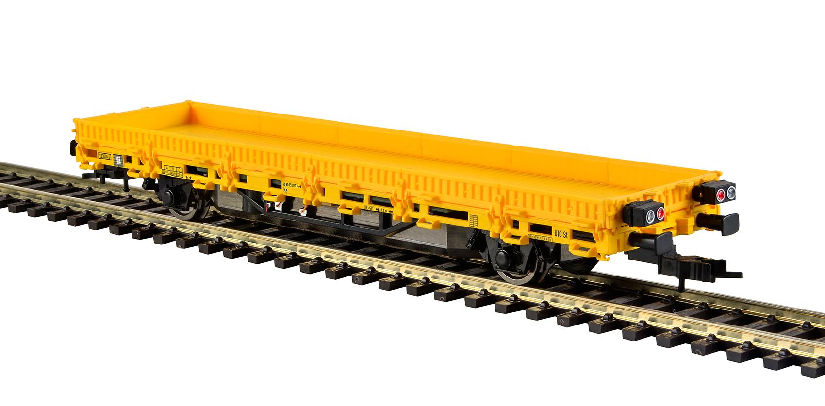 Viessmann 2315 <br/>Niederbordwagen mit Antrieb, gelb, Funktionsmodell für Zweileitersysteme 2