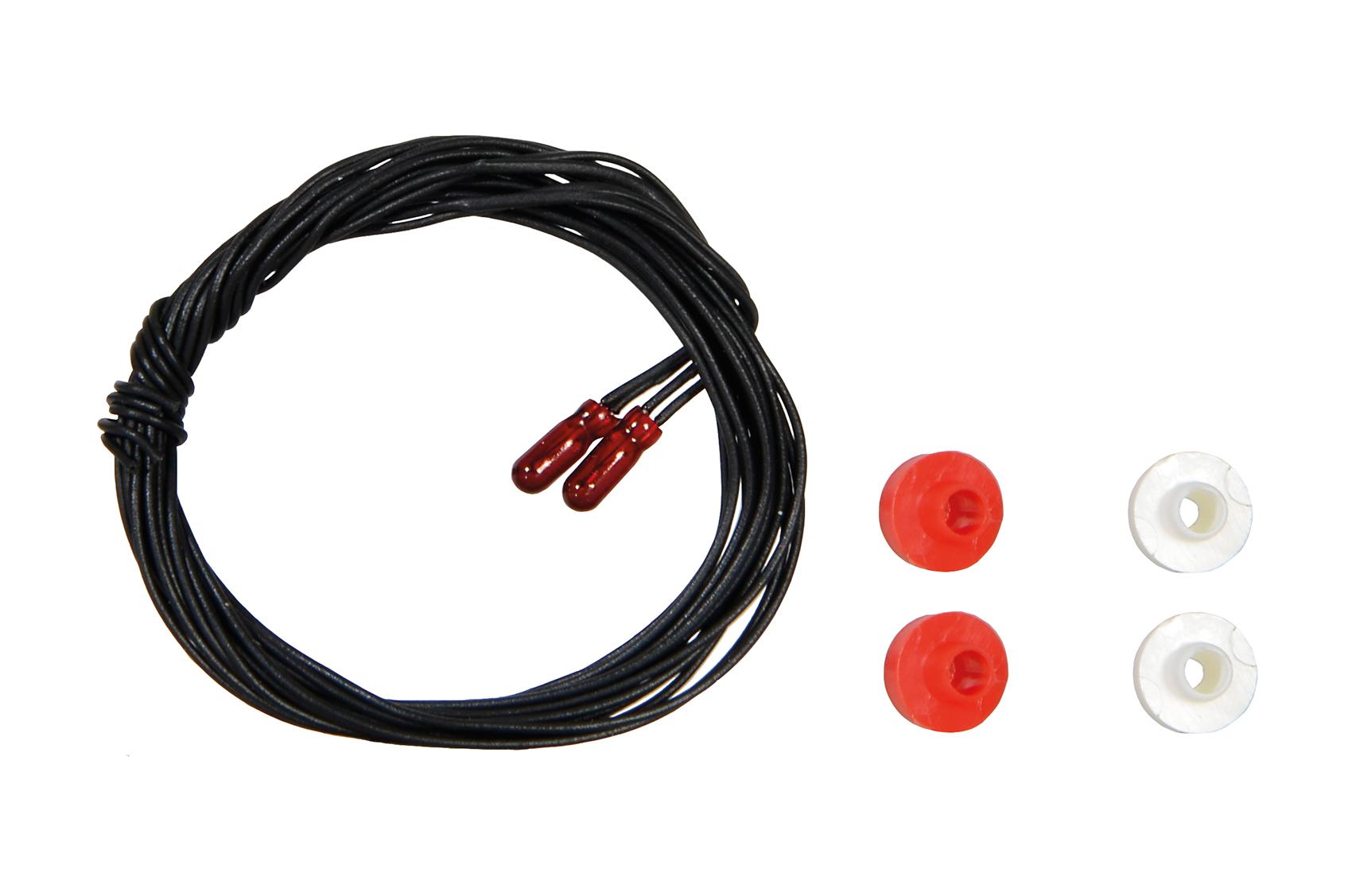 Viessmann 3508 <br/>Glühlampen, rot, 1,8 mm, 16V, 2K, 2 Stück