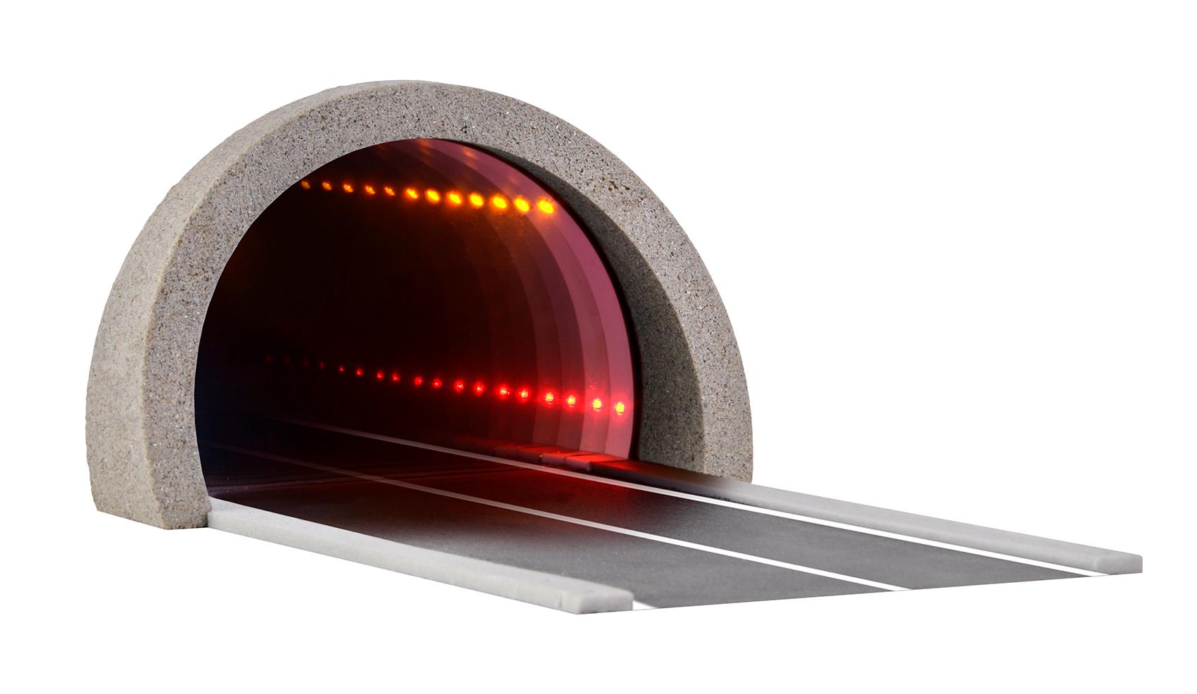 Viessmann 5098 <br/>H0 Straßentunnel, modern, mit LED Spiegeleffektund Tiefenwirkung