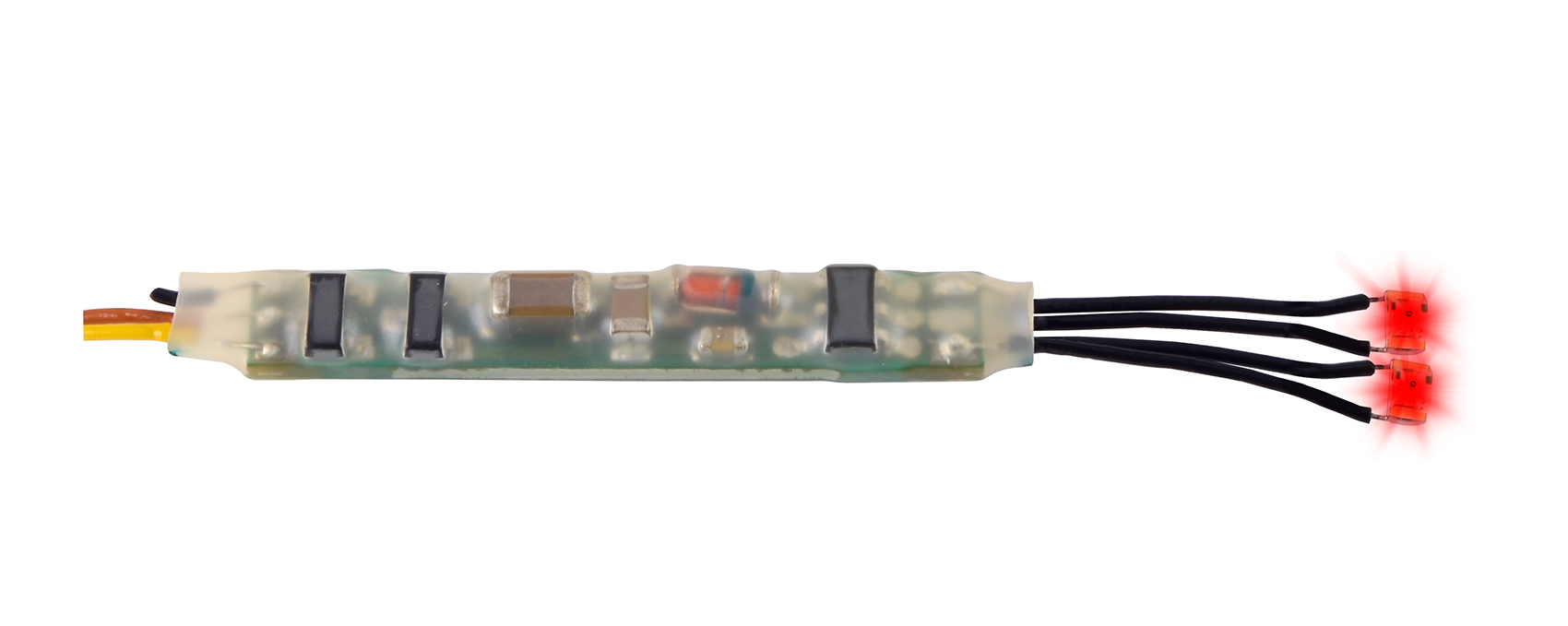 Viessmann 5272 <br/>Mini-LED rot, 2 Stück mit Mikro-Blinkelektronik