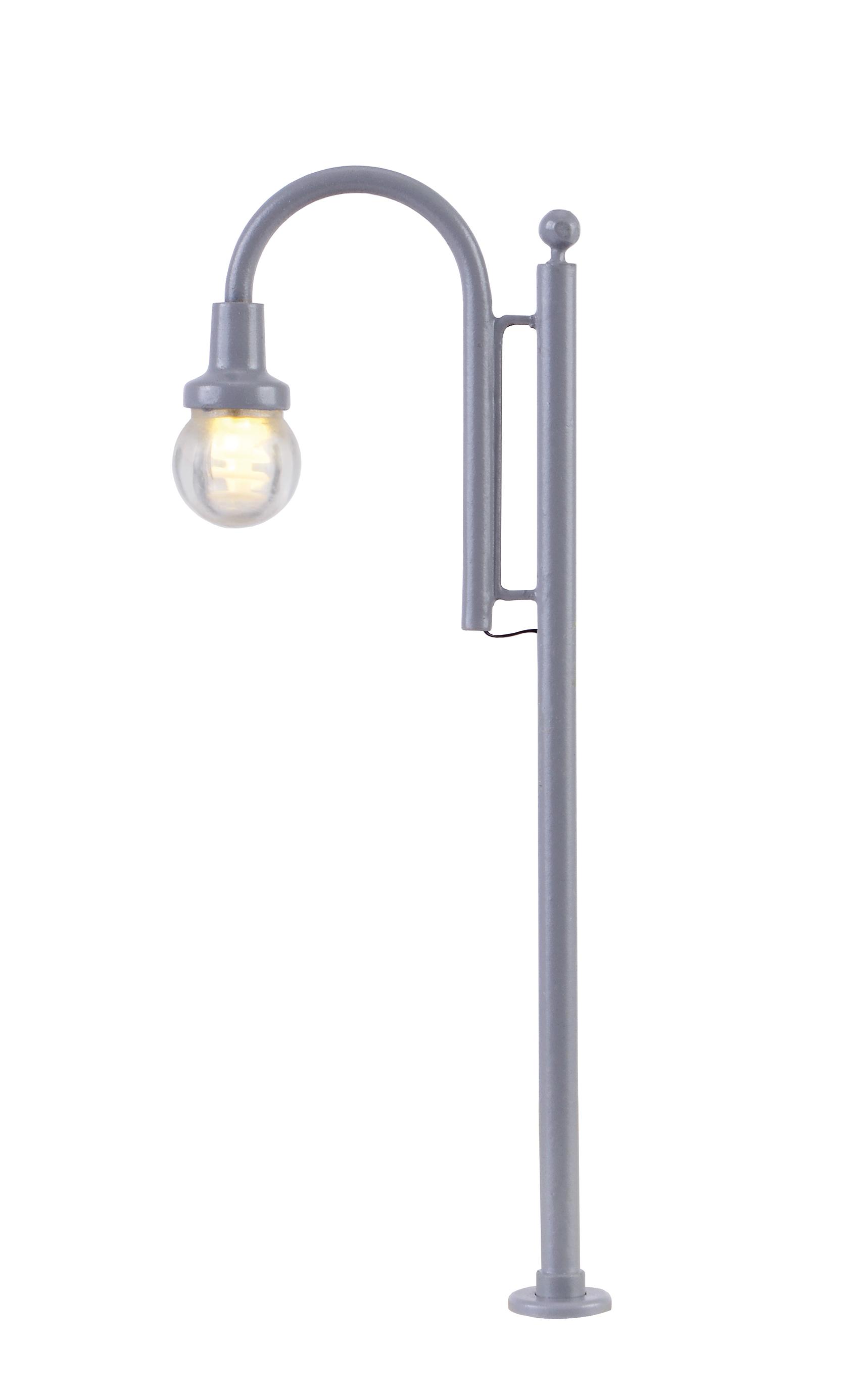 Viessmann 6141 <br/>H0 Bogenleuchte Tiergarten, LED warmweiß