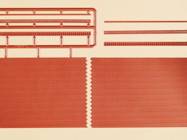 Auhagen 44630 <br/>Ziegelmauern mit Zahnfriesvarianten