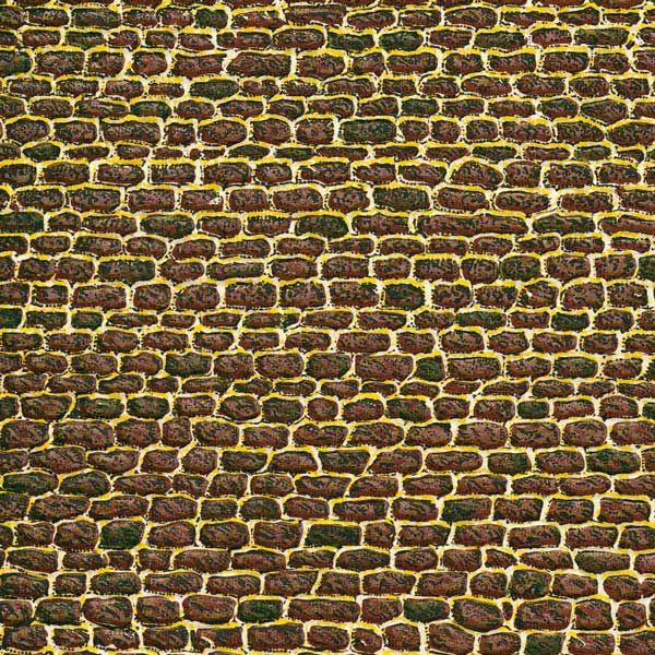 Auhagen 50102 <br/>Dekorpappen unregelmäßiges Mauerwerk