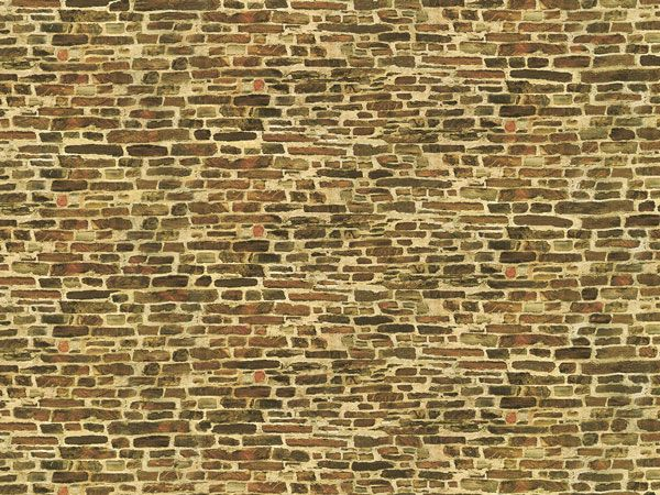 Auhagen 50116 <br/>Dekorpappen Kalksteinmauer klein