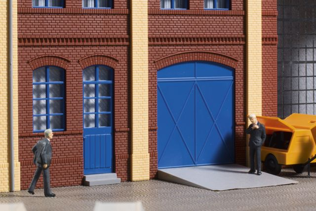 Auhagen 80255 <br/>Tore und Türen blau, Stufen, Rampen