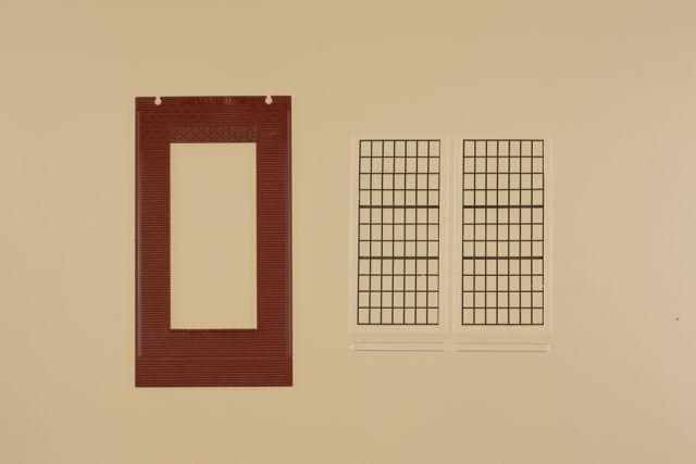 Auhagen 80530 <br/>Wände 2578D rot, Industriefenster P 1