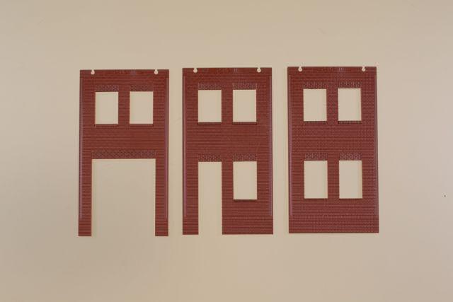 Auhagen 80532 <br/>Wände 2578A, Wände 2578B und Wände 2578C rot