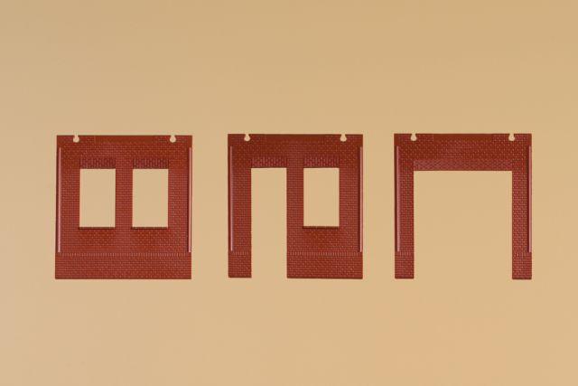 Auhagen 80534 <br/>Wände 2580A, Wände 2580B und Wände 2580C rot