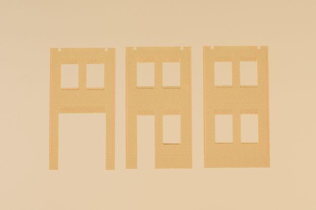 Auhagen 80632 <br/>Wände 2578A, Wände 2578B und Wände 2578C gelb