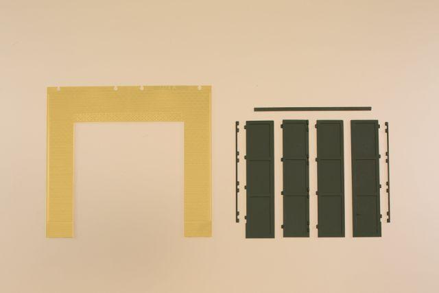 Auhagen 80633 <br/>Wände 2579A gelb, Tore T grün
