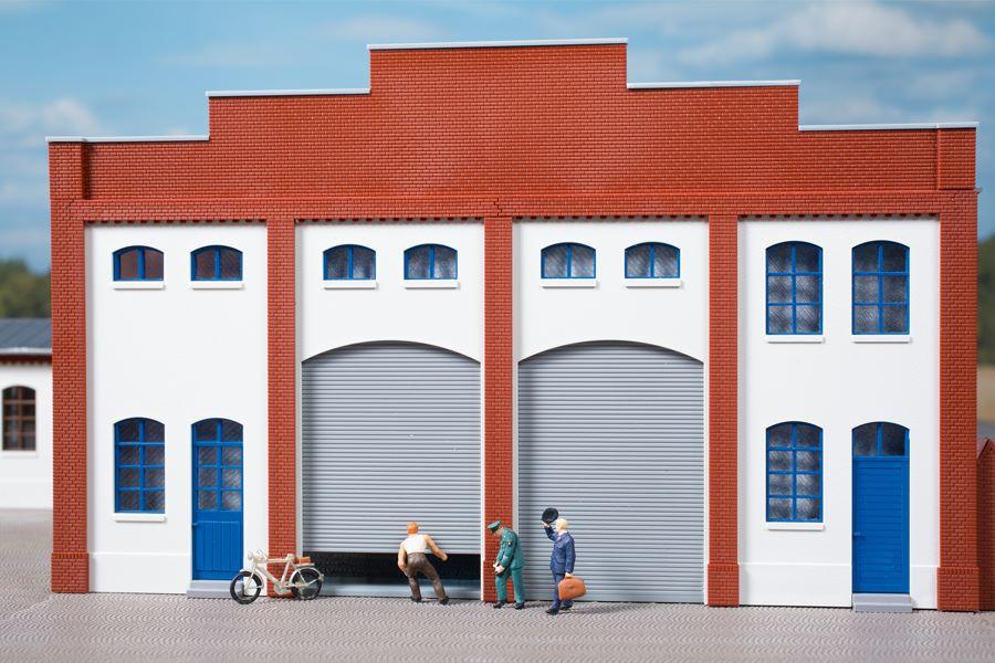 Auhagen 80729 <br/>Wände 2391H geputzt, Tore L grün 1