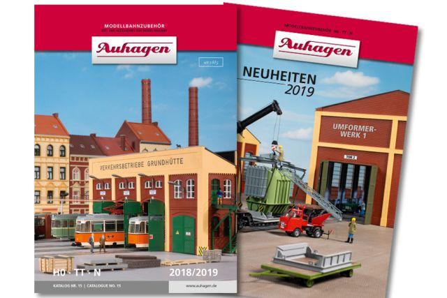 Auhagen 99615 <br/>Katalog Nr. 15 mit Neuheiten 2019